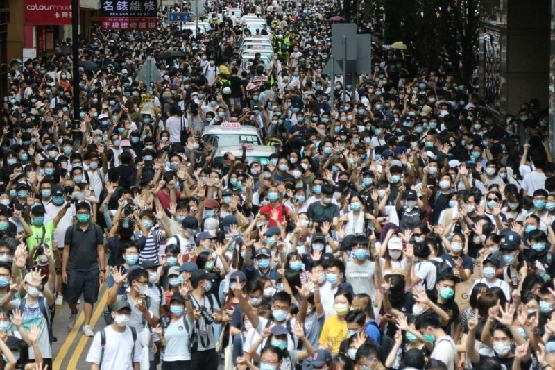 protest causeway bay 1 July 2020