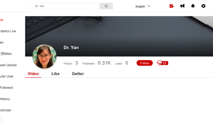Suspended? You can find Dr. Yan's another account here!