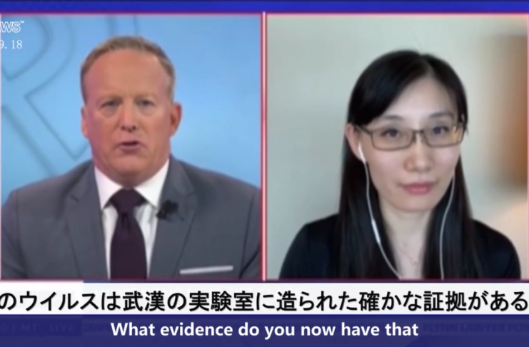 (Japanese+English)Dr. Yan on NewsMax:  This one comes from the lab in China
