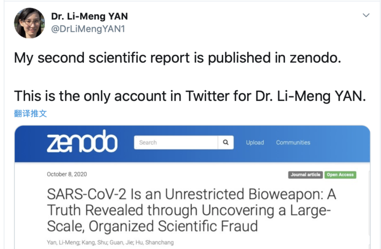[Download] Dr. Li-Meng Yan's Second Report on COVID-19, the CCP Virus, is Available Now!