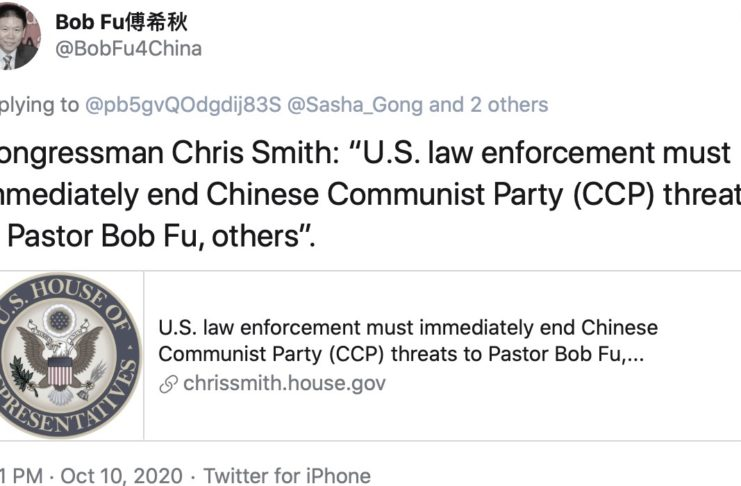 In Response to An Oct. 9 Statement On Bob Fu, Protests and Others