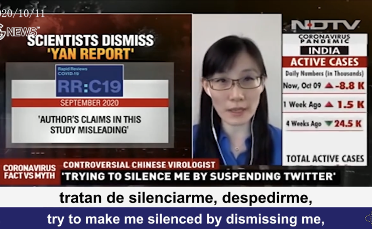(Spanish+English)Dr. Yan reveals that the WHO, which obeys the Chinese Communist Party, and the infiltrated scientific community are working together to hide and mislead the information from the public and silence her