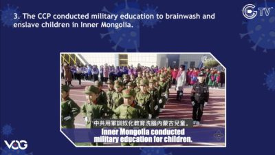 CCP Virus Pandemic Ep267: CCP military education to brainwash and enslave children in Inner Mongolia