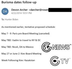 The Third Wave(Email 4 Declassification): Devon Archer reported to Hunter about the itinerary of Burisma's executives to US,Mexico and Kazakhstan