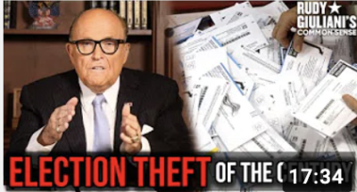 Rudy Giuliani:ELECTION THEFT Of The Century on November 7, 2020