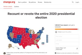 Re-count or re-vote the entire 2020 presidential election!