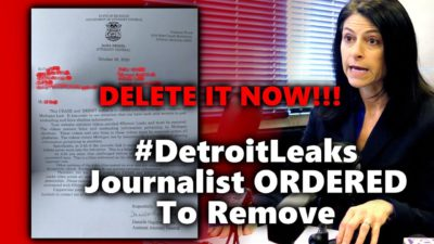 Shocking! Michigan AG Sends Cease and Desist Order to Journalist Demanding He Erase His #DetroitLeaks Video Showing Voter Fraud Training — OR FACE CRIMINAL PROSECUTION