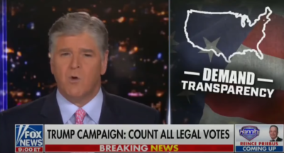 Lawsuits of 2020 Election: Sean Hannity 11/10