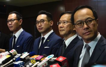 """【Breaking News】Four """"disloyal """" members of the HK Legislative Council are disqualified by the CCP"""