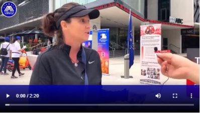 Himalaya Australia interviewed a French-Australian during ABC protest
