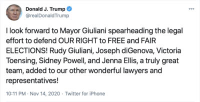 A Truly Great Legal Team Led By Mayor Giuliani
