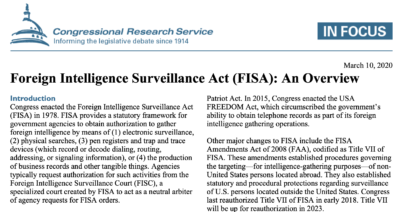 【Concise : Lude Media News (Night) – 11/15/20】The FISA Act — A Sharp Weapon to Takedown Dominos