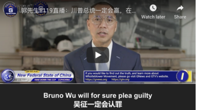 11/19/2020 Mile Guo: President Trump will for sure win the election. The Whistleblowers' Movement told the world in 2018 that this election is going to end up in a funny & ridiculous manner