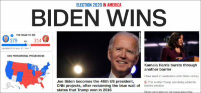 CCP and fake news try to put in Joe Biden as the coronated monarch of America