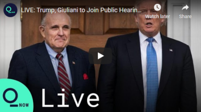 LIVE: Trump, Giuliani Join Hearing on Voter Fraud in PA 11/25