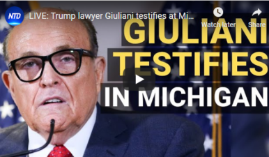 LIVE:Giuliani testifies at Michigan election hearing 12/2
