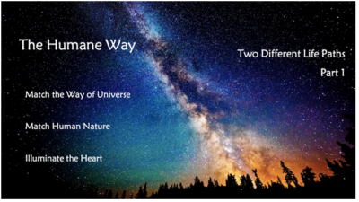 Two Different Life Paths – Part 1