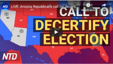 LIVE:AZ Republicans call to decertify election results 12/7