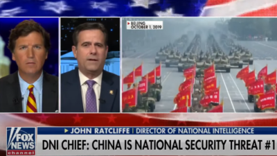 DNI Ratcliffe:China is National Securtiy Threat #1 12/7