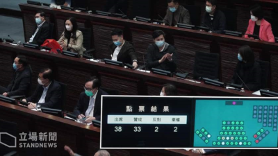 "The HK Legislative Council without opposition voices overwhelmingly passed the 550 million budget for preliminary studies on the ""Lantau Tomorrow"" project."