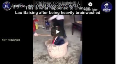 12/10/2020 Horrible – this is what happened to Chinese Lao Baixing after being heavily brainwashed;