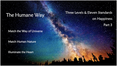 Three Levels & Eleven Standards on Happiness – Part 3