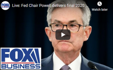 LIVE:Fed Chair Powell 2020 Policy Remarks 12/16