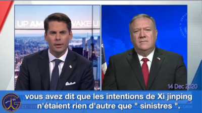 "Interview Pompeo 14/12: Xi Jinping a des intentions ""sinistres"""