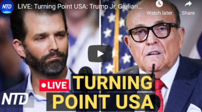 LIVE:Turning Point USA:Trump Jr,Giuliani,Tucker Carlson 12/19